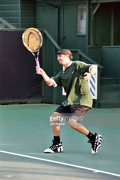 Andre Agassi during HBO's Comic Relief Tennis Tournament with Andre Agassi at UCLA in Los Angeles CA United States