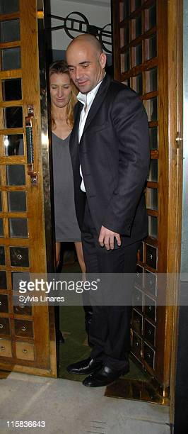 Andre Agassi during Steffi Graf and Andre Agassi Sighting in London February 21 2007 in London Great Britain