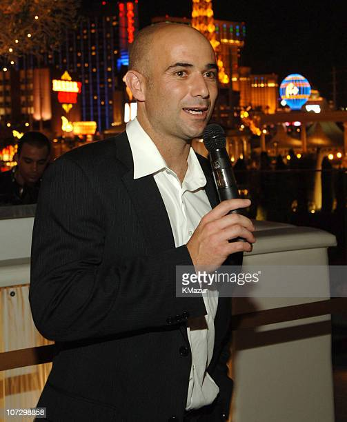 Andre Agassi during The Andre Agassi Charitable Foundation's 10th Annual Grand Slam for Children Fundraiser PreParty Hosted by Janet Jackson at Pure...