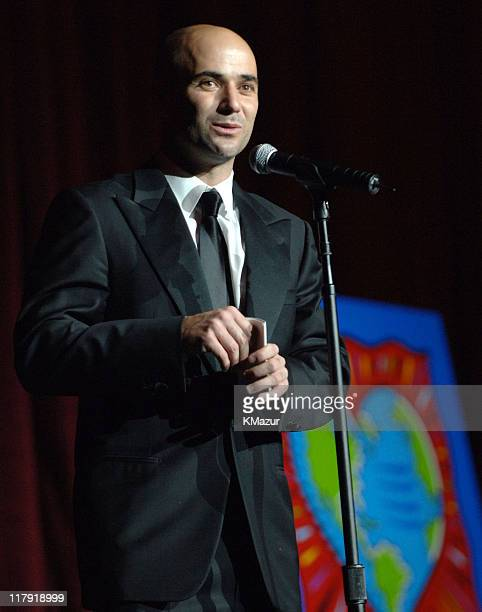 """Andre Agassi during The Andre Agassi Charitable Foundation's 10th Annual """"Grand Slam for Children"""" Fundraiser - Dinner and Auction at MGM Garden..."""