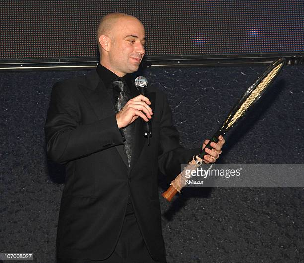 """Andre Agassi during The Andre Agassi Charitable Foundation's 11th Annual """"Grand Slam for Children"""" Fundraiser - Auction at MGM Grand Garden Arena in..."""
