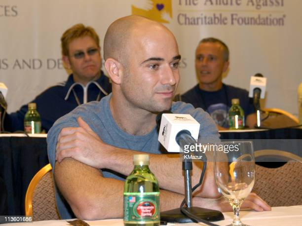 Andre Agassi during The Andre Agassi Charitable Foundation's 8th 'Grand Slam for Children' Fundraiser Press Conference at The MGM Grand Hotel and...