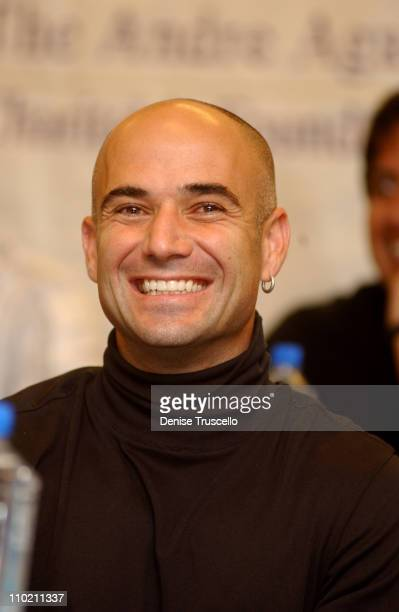 Andre Agassi during The Andre Agassi Charitable Foundation's 9th Annual Grand Slam for Children Fundraiser Press Conference at MGM Grand in Las Vegas...