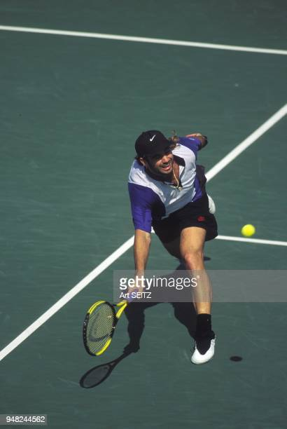 Andre Agassi in action
