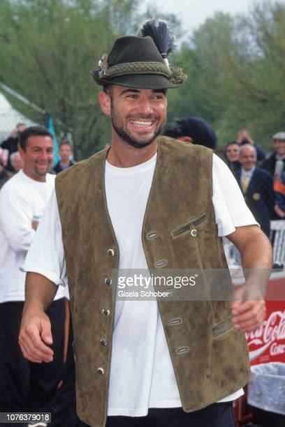 Andre Agassi is seen in April 1998 in Germany