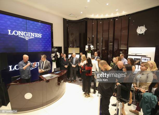 Andre Agassi JuanCarlos Capelli and guests appear as Longines launches the Conquest VHP at the Longines Boutique at the Westfield World Trade Center...