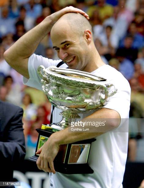 Andre Agassi made history at the Australian Open becoming the first nonAustralian man in open tennis history to win the title four times Agassi...