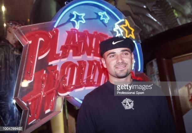 Andre Agassi of the USA at the Players' Party during the Wimbledon Lawn Tennis Championships at the Planet Hollywood restaurant in London England...