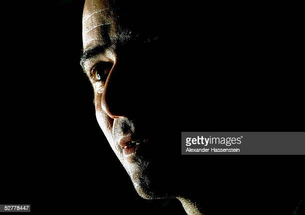 Andre Agassi of United States of America attends a Press conference at the Masters Series Hamburg at Rothenbaum on May 9 2005 in Hamburg Germany