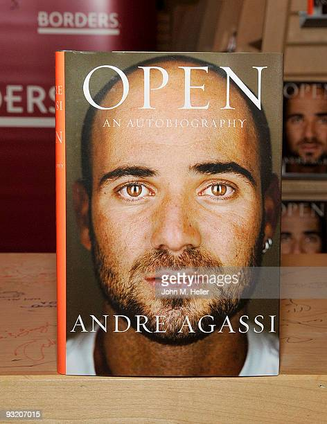 Andre Agassi signs copies of his new book ''Open An Autobiography'' at the Borders Book Store on November 18 2009 in Century City California