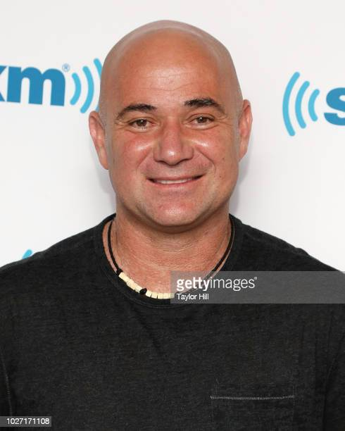 Andre Agassi visits the SiriusXM Studios on September 5 2018 in New York City