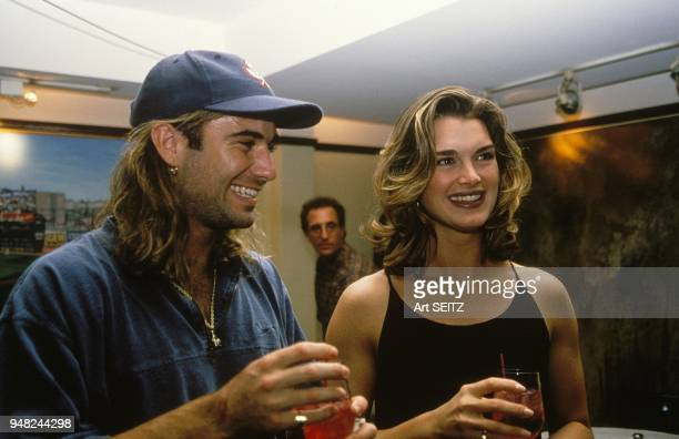 Andre Agassi with Brooke Shields