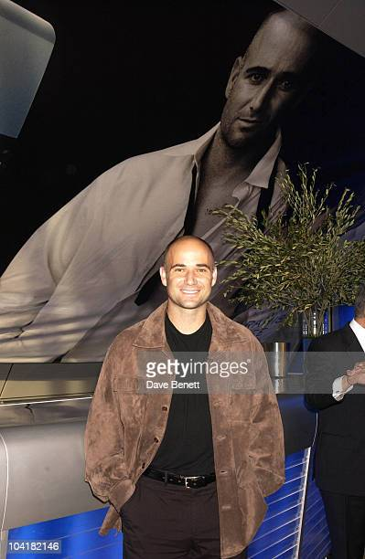 Andre Agassi With Young Models Aramis Life Perfume Launch With Their Special Surprise Andre Agassi Who's Involvement Has Been Very Much From The...
