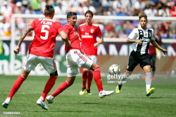 Andre Almeida of Benfica battles for the ball against Juventus during the International Champions Cup 2018 match between Benfica and Juventus at Red...