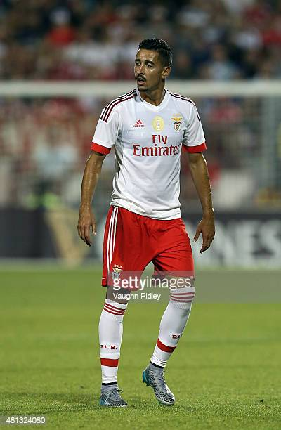 Andre Almeida of Benfica in action during the 2015 International Champions Cup match against Paris SaintGermain at BMO Field on July 18 2015 in...
