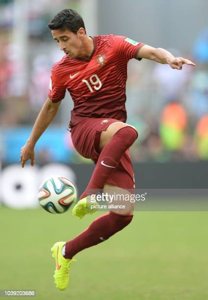 Andre Almeida of Portugal in action during the FIFA World Cup 2014 group G preliminary round match between Germany and Portugal at the Arena Fonte...