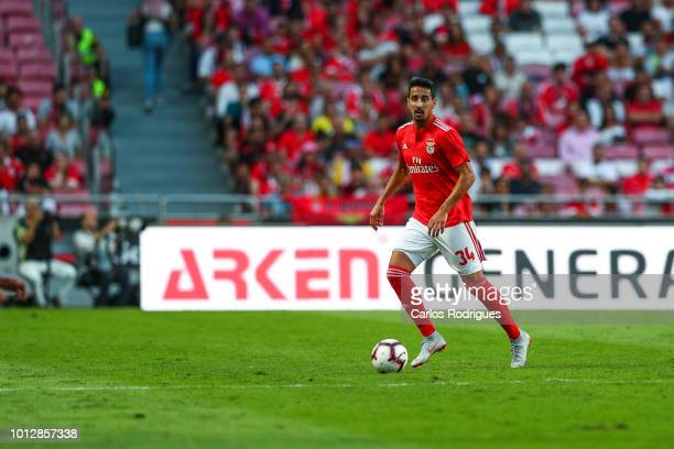 Andre Almeida of SL Benfica during the match between SL Benfica and Fenerbache SK for UEFA Champions League Qualifier at Estadio da Luz on August 7...