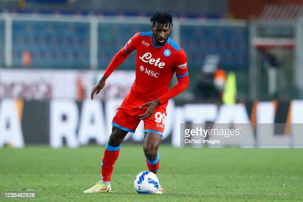 Andre Anguissa of SSC Napoli controls the ball during the Serie A match between UC Sampdoria and SSC Napoli at Stadio Luigi Ferraris on September 23,...