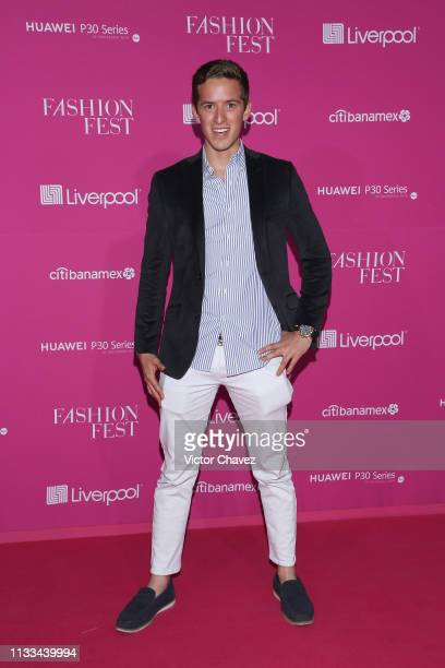 Andre attends the Liverpool Fashion Fest Spring/Summer 2019 at Quarry Studios on March 28 2019 in Mexico City Mexico