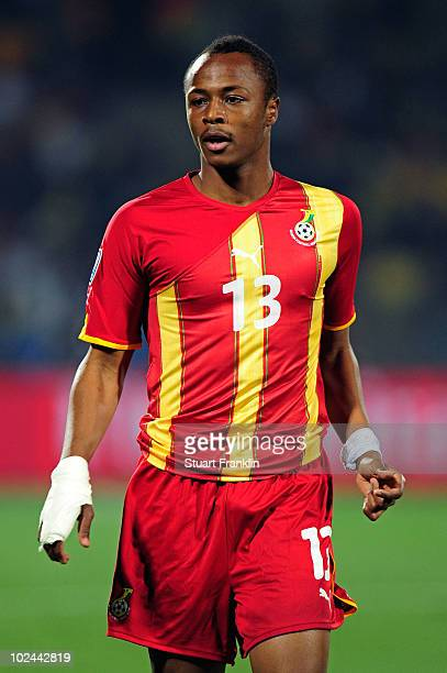 Andre Ayew of Ghana in action during the 2010 FIFA World Cup South Africa Round of Sixteen match between USA and Ghana at Royal Bafokeng Stadium on...