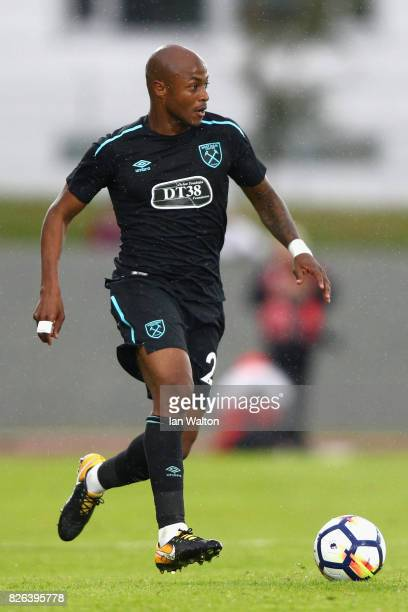 Andre Ayew of West Ham United in action during a Pre Season Friendly between Manchester City and West Ham United at the Laugardalsvollur stadium on...