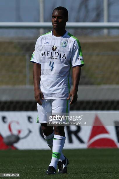 Andre Bahia of Shonan Bellmare in action during the JLeague J2 match between Kamatamare Sanuki and Shonan Bellmare at Pikara Stadium on April 2 2017...