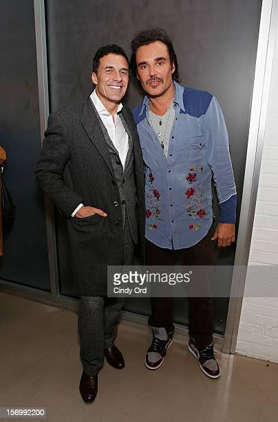 Andre Balazs and David LaChapelle attend David LaChapelle's opening of Still Life at Paul Kasmin Gallery on November 26 2012 in New York City