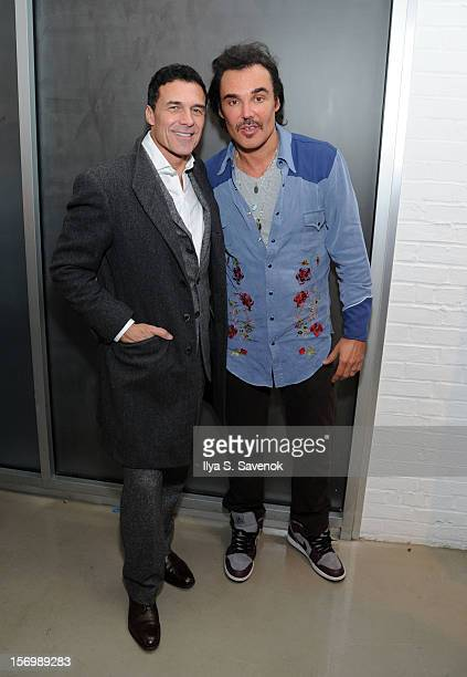 Andre Balazs and David LaChapelle attends David LaChapelle's Opening Of Still Lifeat Paul Kasmin Gallery on November 26 2012 in New York City