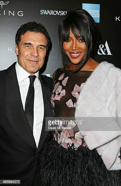 Andre Balazs and Naomi Campbell arrive at the Alexander McQueen: Savage Beauty Fashion Gala at the V&A, presented by American Express and Kering on...