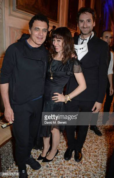 Andre Balazs Annie Morris and Idris Khan attend a party to celebrate Nefer Suvio's birthday hosted by The Count and Countess Francesco Chiara Dona...