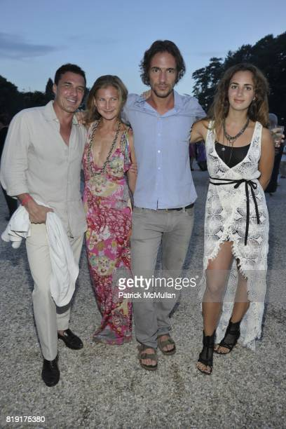 Andre Balazs Elizabeth von Guttman Thomas Hayo and Alexia Niedzielski attend Paradiso The 17th Annual Watermill Summer Benefit 2010 at Watermill...