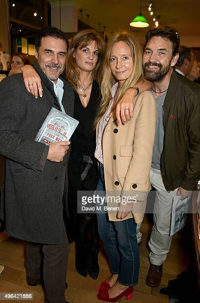 Andre Balazs Jemima Khan Martha Ward and Dougray Scott attend the launch of AA Gill's new book Pour Me A Life at Daunt Books on November 9 2015 in...