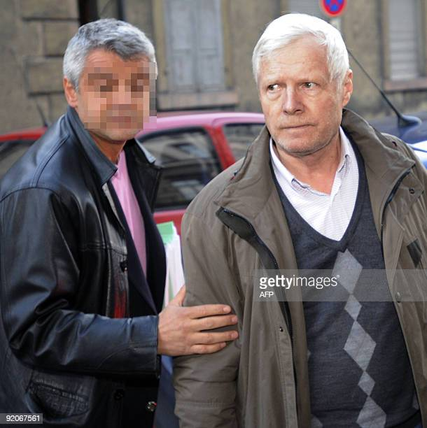 Andre Bamberski father of Kalinka Bamberski who died mysteriously in 1982 arrives on October 20 2009 at the Mulhouse court eastern France Bamberski...