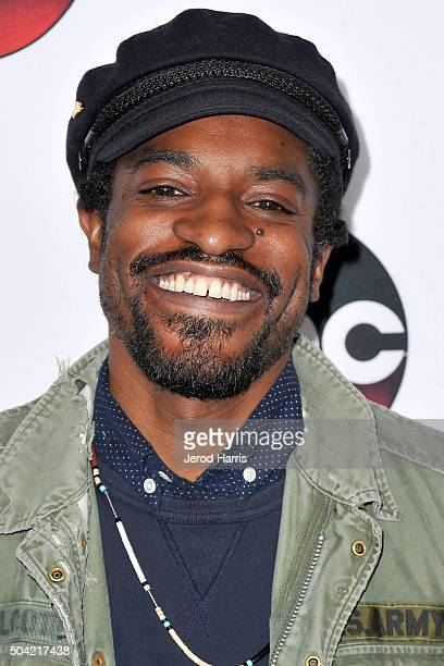 Andre Benjamin arrives at the Disney/ABC 2016 Winter TCA Tour at the Langham Hotel on January 9 2016 in Pasadena California