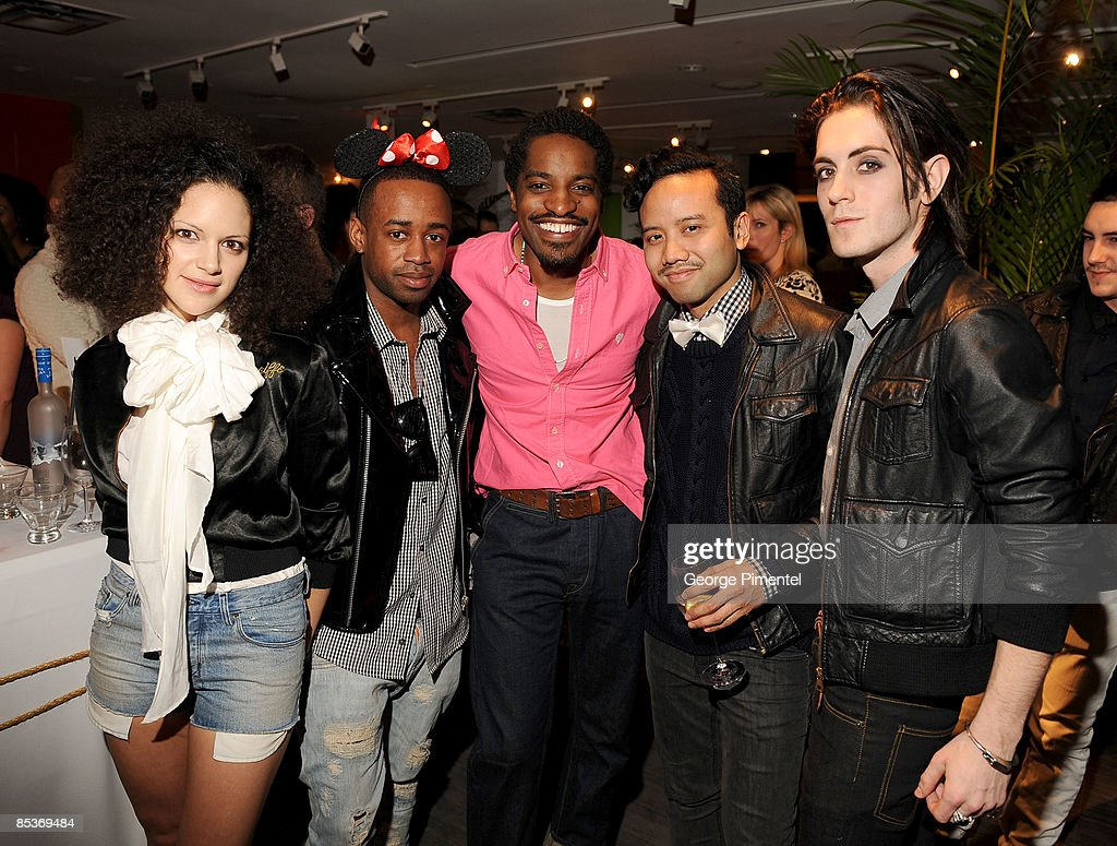 Andre Benjamin (C) with Fritz Helder & The Phantoms at Holt Renfew Bloor Street for the Launch of 'Benjamin Bixby' Menswear Spring 2009 Collection on March 10, 2009 in Toronto, Canada.