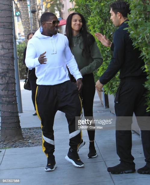 Andre Berto is seen on April 4 2018 in Los Angeles CA
