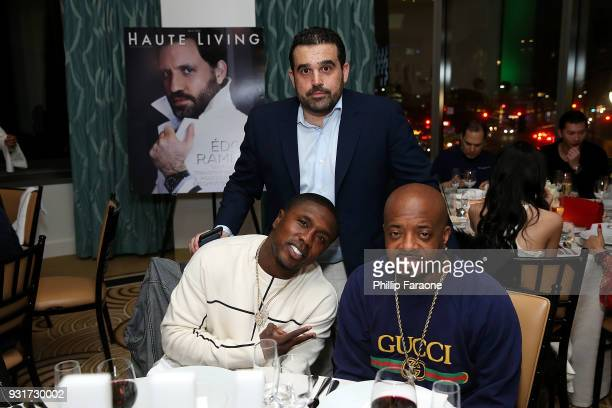 Andre Berto Seth Semilof and Jermaine Dupri attend the Hublot Private Dinner with Edgar Ramirez at Waldorf Astoria Beverly Hills on March 13 2018 in...