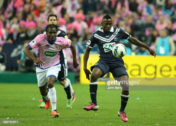 Andre Biyogo Poko of Bordeaux in action during the French Cup Final match between FC Girondins de Bordeaux and Evian Thonon Gaillard FC at the Stade...