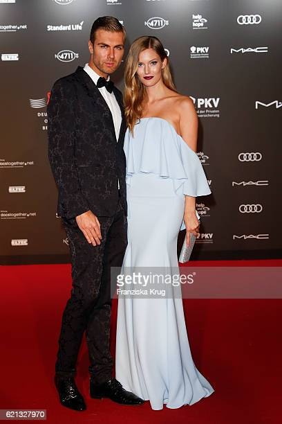 Andre Borchers and Charlott Cordes arrive at the 23rd Opera Gala at Deutsche Oper Berlin on November 5 2016 in Berlin Germany