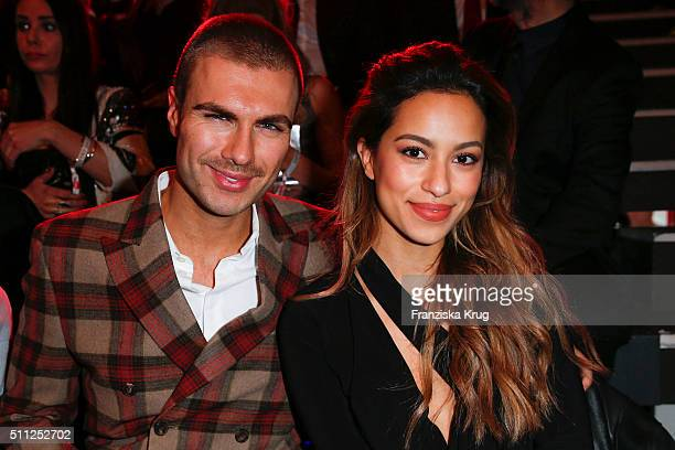Andre Borchers and Gizem Emre attend the 99FireFilmAward 2016 at Admiralspalast on February 18 2016 in Berlin Germany