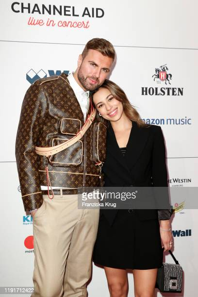 Andre Borchers and Gizem Emre during the Channel Aid Live in concert at Elbphilharmonie on January 4 2020 in Hamburg Germany