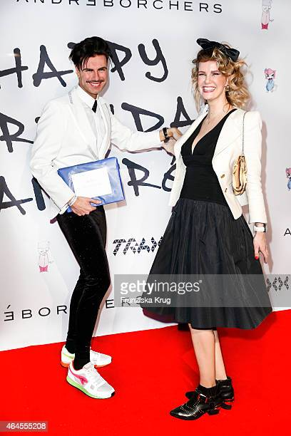 Andre Borchers and Monica Ivancan attend as Andre Borchers Celebrates His Birthday on February 26 2015 in Hamburg Germany