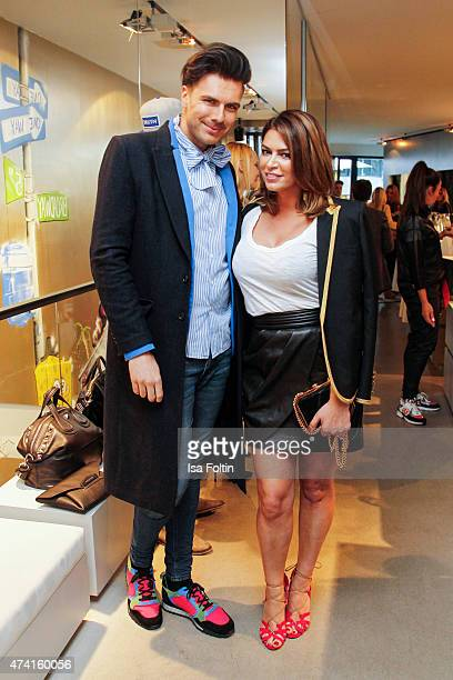 Andre Borchers and Sabia Boulahrouz attend the Petra Teufel GALA Fashion Night on May 20 2015 in Hamburg Germany