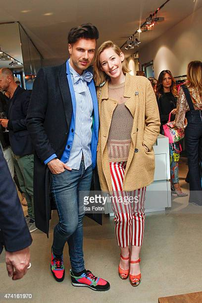 Andre Borchers and Stephanie Betz attend the Petra Teufel GALA Fashion Night on May 20 2015 in Hamburg Germany