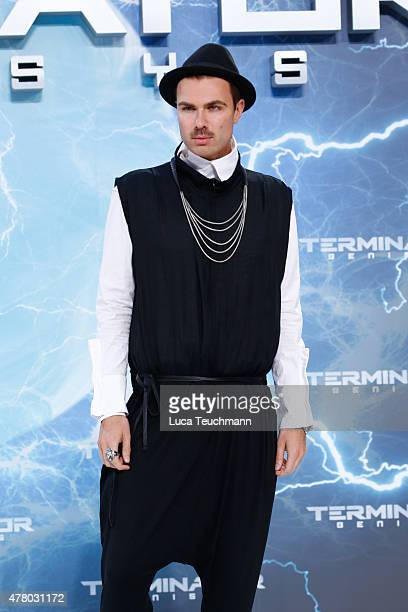 Andre Borchers arrives at the European Premiere of 'Terminator Genisys' at the CineStar Sony Center on June 21 2015 in Berlin Germany