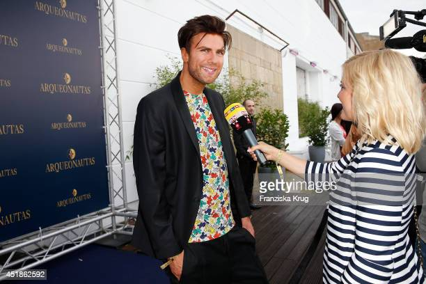 Andre Borchers attends the Arqueonautas Presents Kevin Costner Music Meets Fashion at Spindler Klatt on July 08 2014 in Berlin Germany