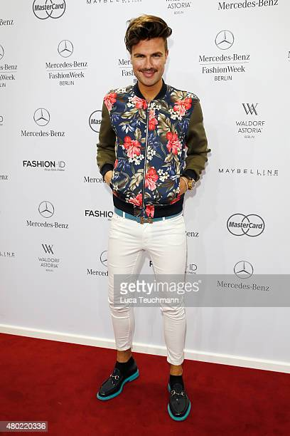 Andre Borchers attends the Ewa Herzog show during the MercedesBenz Fashion Week Berlin Spring/Summer 2016 at Brandenburg Gate on July 10 2015 in...