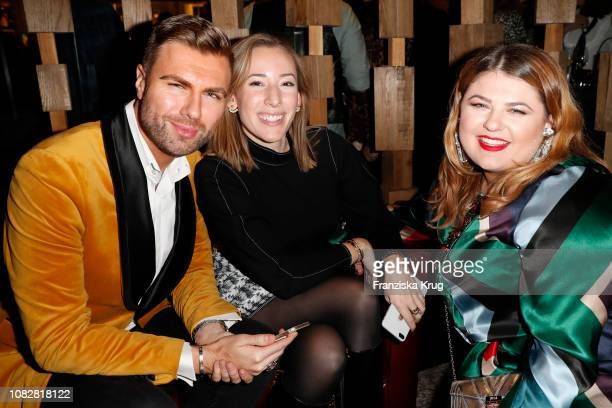 Andre Borchers Stephanie Betz and Alina Wichmann during the Bunte New Faces Night at Layla on January 14 2019 in Berlin Germany