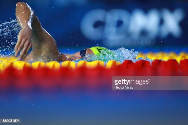 Andre Brasil of Brazil competes in Men's 400 m Freestyle S910 during day 6 of the Para Swimming World Championship Mexico City 2017 at Francisco...