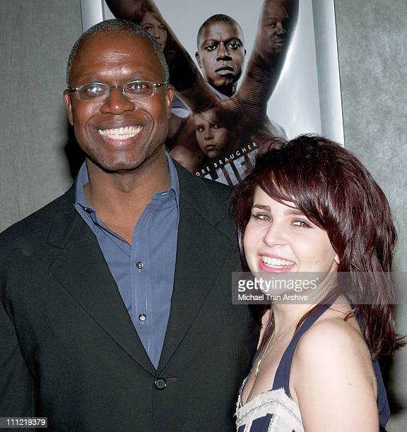 Andre Braugher and Mae Whitman during Thief Los Angeles Premiere Inside Arrivals at Pacific Design Center in West Hollywood CA United States